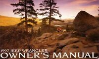 1997 Jeep Wrangler Owners Manual User Guide Reference Operator Book