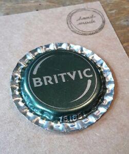 BOTTLE CAP FRIDGE MAGNET BRITVIC. GREEN