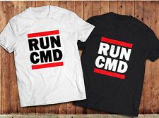 RUN CMD T-Shirt, Geek, nerd, computer programmers Tee , classic run dmc spoof