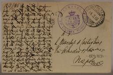 POSTA MILITARE 23^ DIVISIONE 14.3.1916 CARTOLINA TIMBRO 2^ COLONNA MUNIZ.#XP271B