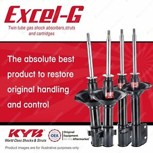 Front + Rear KYB EXCEL-G Shock Absorbers for SUBARU Impreza GC8 GF8 F4 AWD