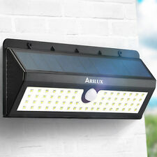 ARILUX® AL-SL06 Solar Powered 62 LED PIR Motion Sensor Light   IP65 Wall Lamp