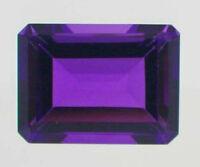Natural Purple Amethyst Emerald Shape 23.7ct 13x18mm Faceted Cut VVS Loose Gems