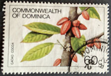Stamp Dominica 1981 60c Flowers and Fruits Cocoa Used