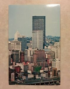 Pittsburgh PA Skyline with United States Steel Building Background Postcard