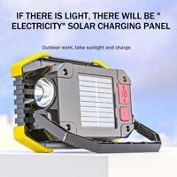 Solar Energy LED Work Light USB Rechargeable Flashlight Lamp NE Camping T1Y5