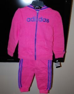 Authentic Adidas children hooded 2 piece active wear sets boys and girls $54 tag