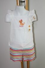 Gymboree Ice Cream Sweetie Cat Kitty Top Shirt Knit Shorts Girls Size 4 4T NWT