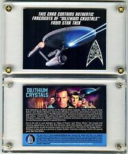 Star Trek TV Prop Card Screen Used Dilithium Crystals Vault Collectibles EXC