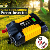 6000W Peaks 12V DC TO 110V/220V AC Car Solar Power Inverter Converter Charger