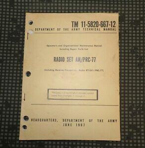 Vietnam War US Army Radio Set AN/PRC-77 Operating Handbook 1967
