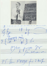 "Karlheinz STOCKHAUSEN (Composer): ""Freude"" - Autograph Musical Quotation"