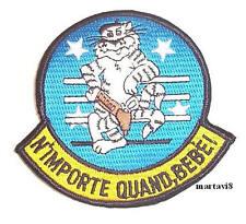 US. Navy F-14 Tomcat ` N`IMPORTE QUAND BEBE` Cloth Badge / Patch (F14-12)