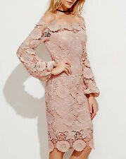 Off The Shoulder Floral Embroidered Guipure Lace Dress Robe Dentelle Broderie L