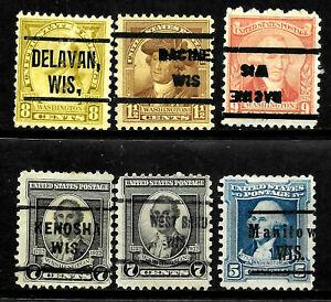 Precancel Collection 1 Invert Different 1-9 Cent 1932 Bicentennial Issue US 61