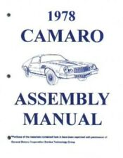 CAMARO 1978 Assembly Manual 78