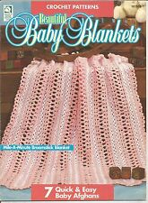 Crochet Patterns BEAUTIFUL BABY BLANKETS by House of White Birches #101018