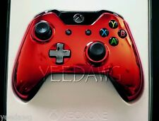 CUSTOM CHROME RED New Microsoft Xbox One Wireless Controller pack (USA SELLER)