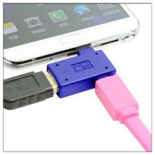 OTG 90 Degree LEFT Angle Micro USB 2.0 Host Adapter & Power Phone Tablet