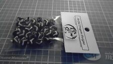 Vintage 10mm Water Buffalo Bone Zig Zag Batik Beads - 25pcs.