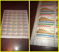 San Marino 1965 Visita del presidente Saragat Foglio intero francobolli NUOVO