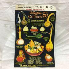 Vtg Crosman's Collection Of Gourd Seeds Advertising Envelope Packaging Crosman