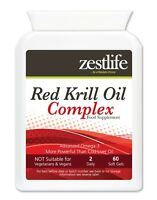 Zestlife Red Krill Oil Complex 500mg 60 Soft Gel Capsules