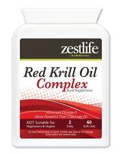 Zestlife Rojo Complejo Aceite de Krill 500 mg 60 Cápsulas De Gel Suave