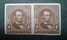Us #222p5 mint hinged proof pair ~1810