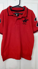 Boy's Size 5-6 Beverly Hills Polo Club Red Collared Shirt
