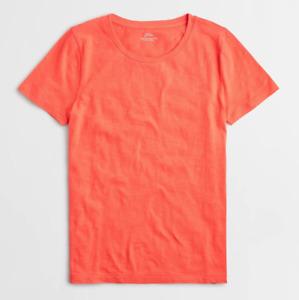 J Crew Shirt Womens XS Sunset Orange New Short Sleeve Vintage Cotton Crew Tee
