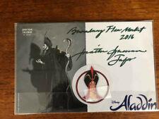 Jonathan Freeman Jafar signed Disney's Aladdin Broadway musical card