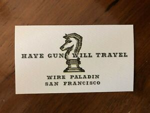 HAVE GUN WILL TRAVEL/Paladin - (30) Business card size cards! Amazing! Textured