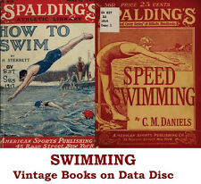 Swimming & Water Polo Collection of Vintage Books on Data Disc