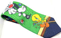 """Men's Tie SYLVESTER TWEETY Picasso Multi Polyester 3.75"""" Width 58"""" Length"""