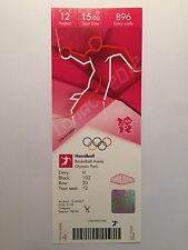 London 2012 billet Handball France homme or 12 août 125 £ B96 * Comme neuf *