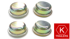 4 x 51mm Caravan / Trailer Steel Dust Caps / Hub Cap