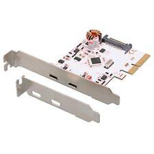 Connectland Pcie-cnl-usb3.1-type-c-2p Carte Contrôleur PCI Express USB V3.1