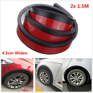 2x 4.5cm/1.5M Auto Car Fender Flare Extension Wheel Eyebrow Trim Protector Strip