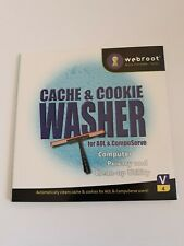 Webroot Cache & Cookie Washer PC CDROM Utility Tools Computer
