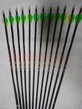 """12 Carbon Express """"The Crush"""" 250 Carbon Hunting Arrows!  WILL CUT TO LENGTH!"""