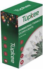 Tupkee Twinkle Shimmering Lights - Indoor Outdoor – 20.5 Feet, 100 Bulbs
