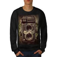Wellcoda Old Foto Camera Mens Sweatshirt, Retro Casual Pullover Jumper