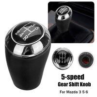 5 Speed PU Leather Car Gear Shift Stick Knob Head Cap For Mazda 3 5 6 Series MX5