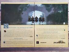 Final Fantasy Tactics Playstation 1 PS1 2-Page Game Promo Ad Art Print Poster