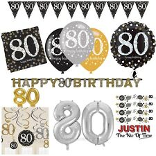 80th Gold Celebration Birthday Party Supplies Balloons Tableware & Decorations
