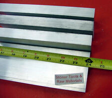 """4 Pieces 1"""" X 4"""" ALUMINUM 6061 FLAT BAR 24"""" long Solid T6511 Plate Mill Stock"""