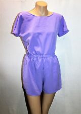 ONE & ONLY URBAN OUTFITTERS Brand Purple Short Sleeve Playsuit Size S BNWT #TK82