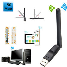 150Mbps Mini Wifi Wlan Wireless Adapter USB 2.0 Stick Dongle mit Antenne für PC