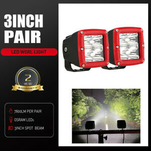 3inch Osram LED Driving Lights Spot Spotlights Cube Work Fog Lamp 4WD Square Ute